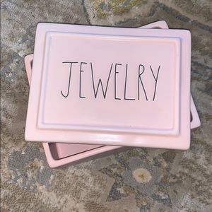 ✨NEW! Rae Dunn 'Jewelry' Light Pink Box